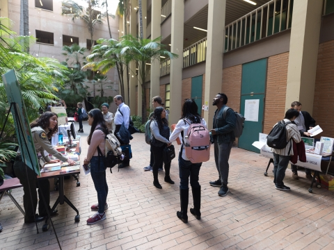 Friends of Geography Career Fair in the Bunche Palm Court.